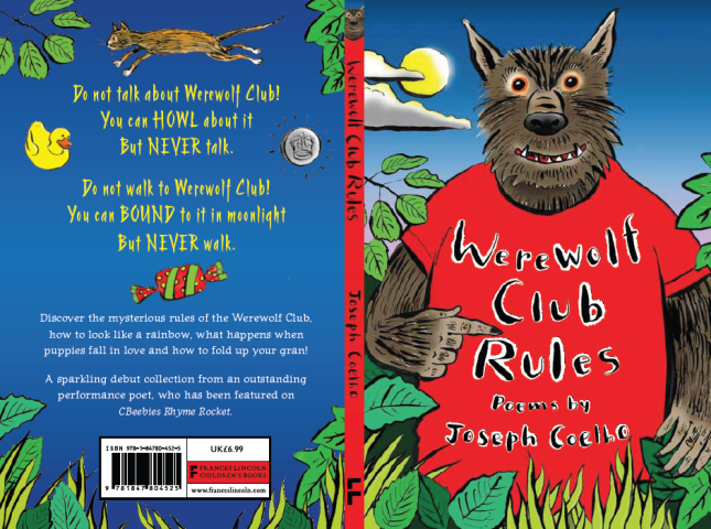 Cover for Werewolf Club Rules by Joseph Coelho out on 14th August 2014